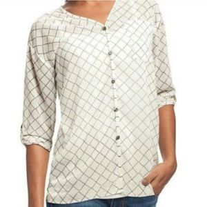 💎Cabi Chessboard Sheer Blouse Style #740